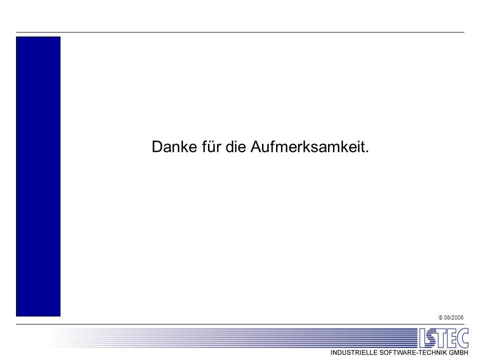 © 06/2005 Danke für die Aufmerksamkeit.