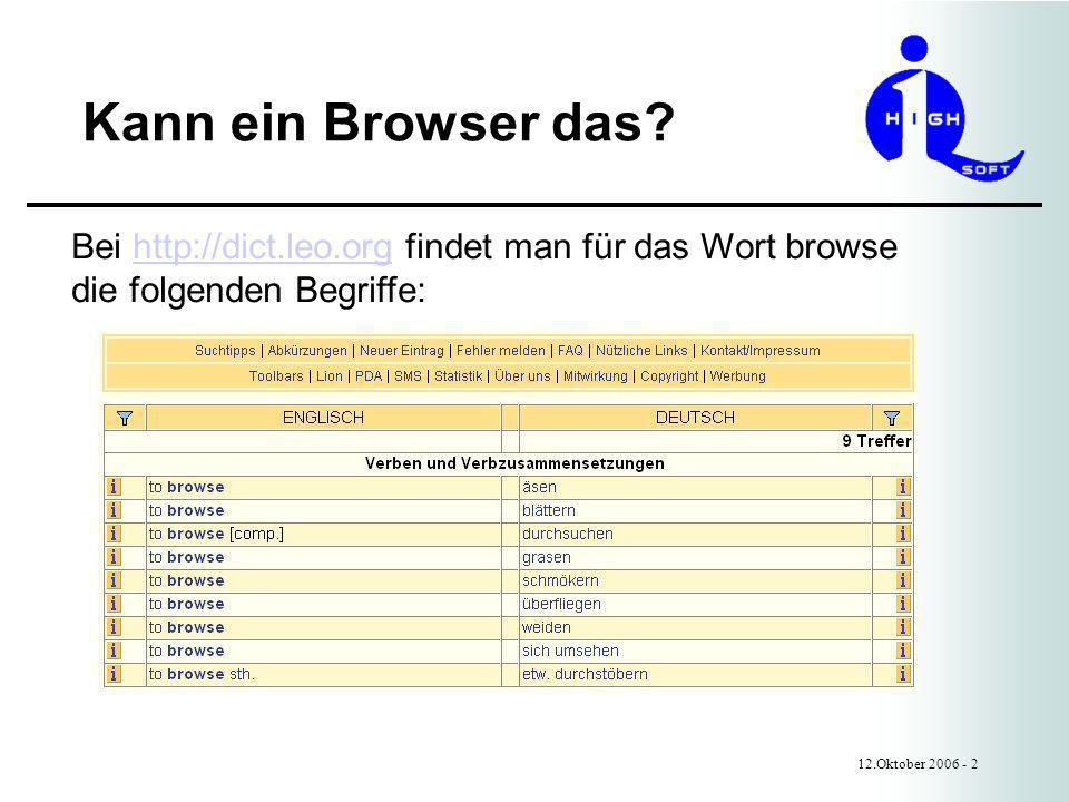 Kann ein Browser das.