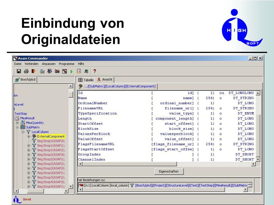 Einbindung von Originaldateien 12.November 2008 - 8 Ausblick Die einzelnen Binärdateien werden aus Performancegründen zu einer zusammengefasst.