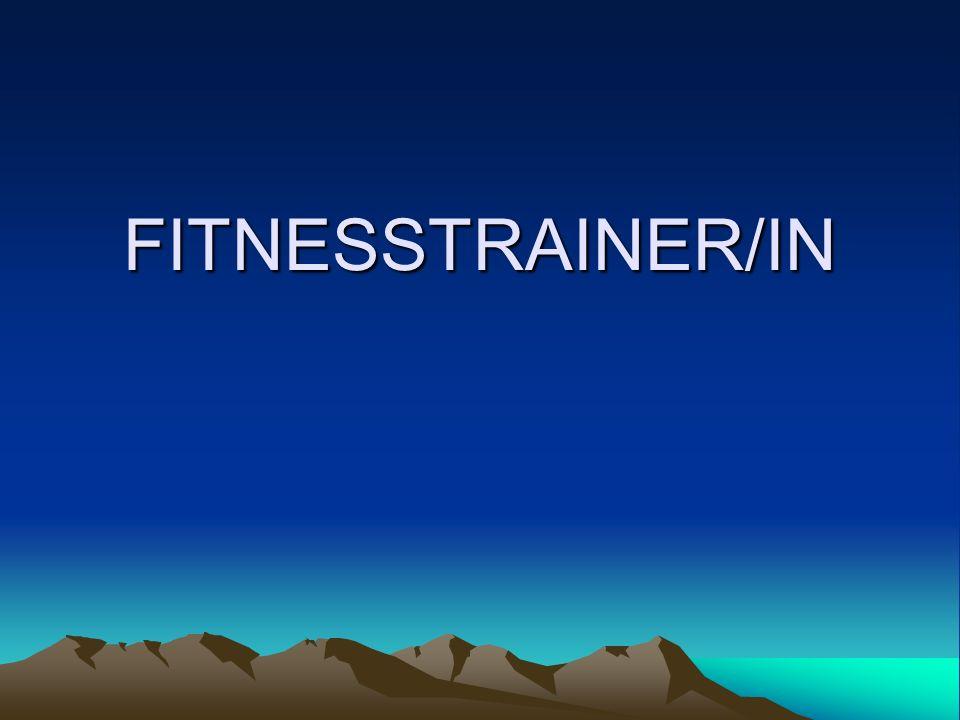 Was ist deine Aufgabe als Fitnesstrainer Kunden den richtigen Umgang mit den Fitnessgeräten zu zeigen Ernährungstipps geben Führen Fitnesstests durch Motivieren die Kunden und überprüfen die Trainingsübungen