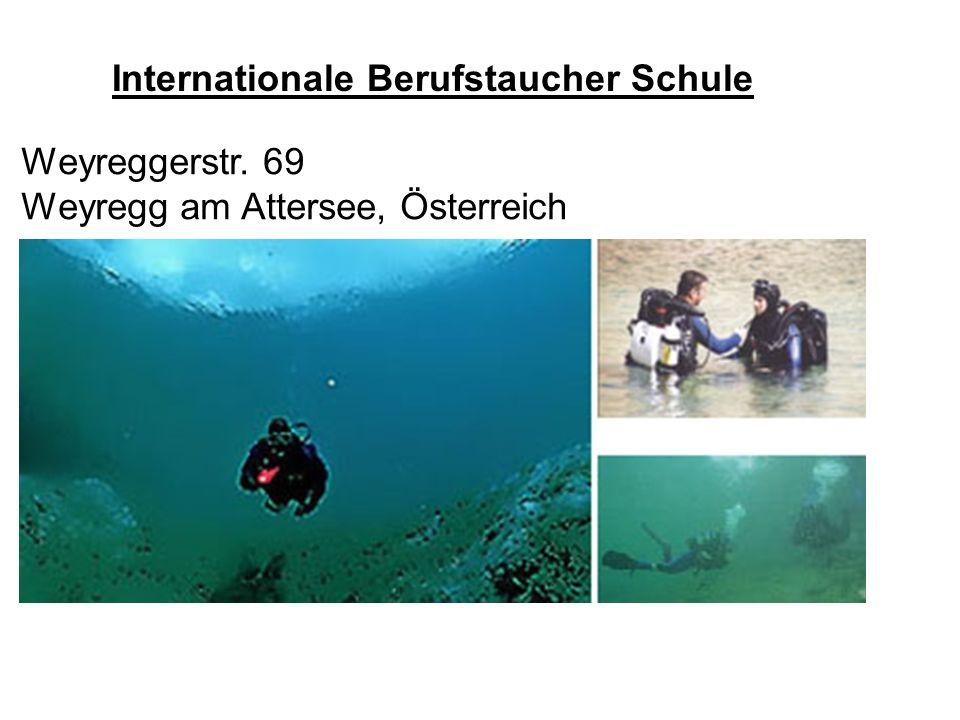 Internationale Berufstaucher Schule Weyreggerstr. 69 Weyregg am Attersee, Österreich