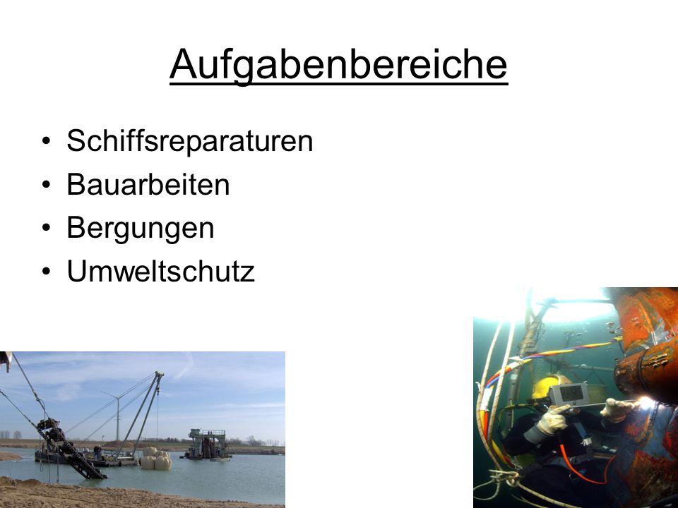 Aufgabenbereiche Schiffsreparaturen Bauarbeiten Bergungen Umweltschutz