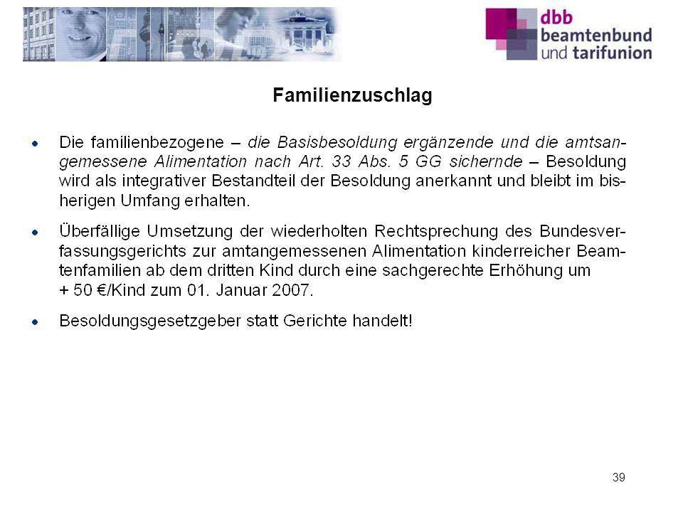 Familienzuschlag 39