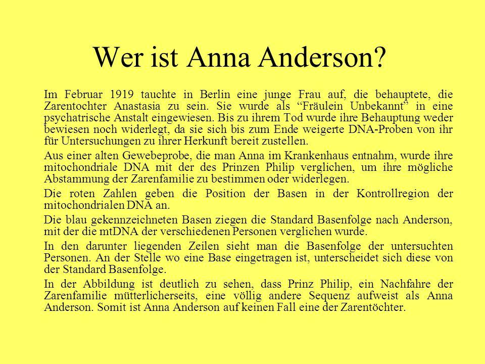 Wer ist Anna Anderson.