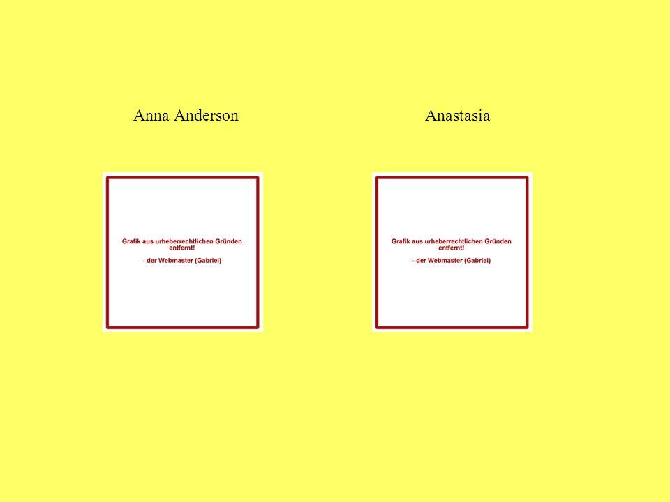 Anna Anderson Anastasia