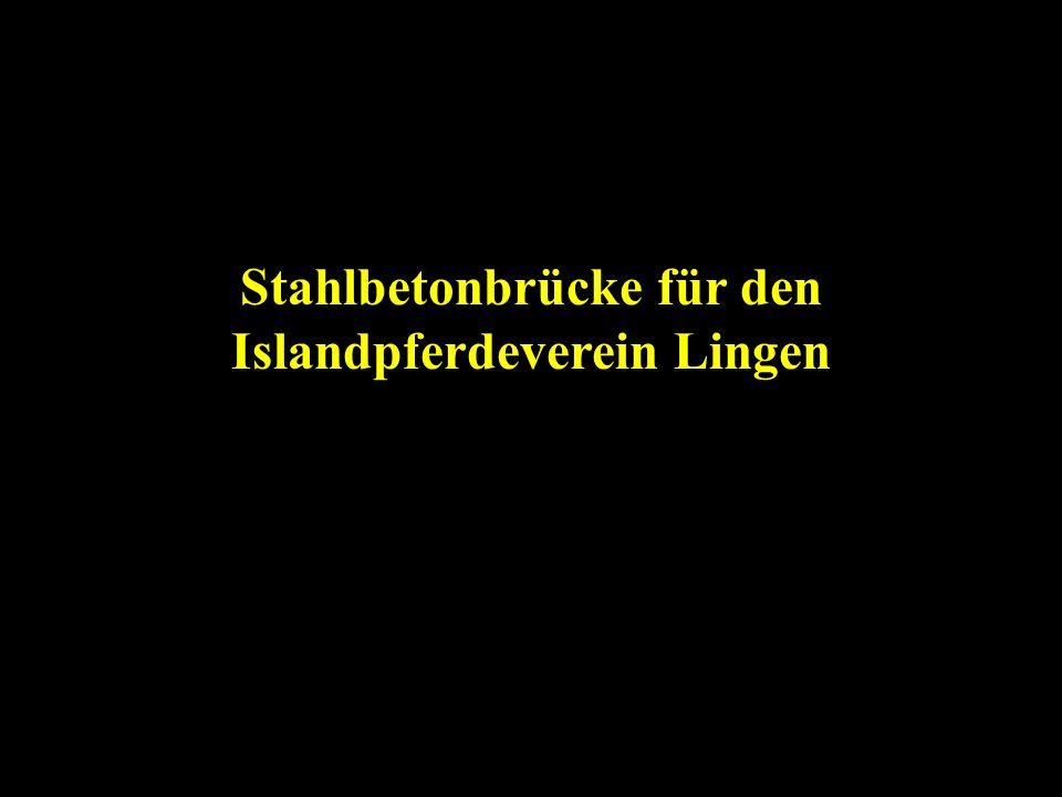 Stahlbetonbrücke für den Islandpferdeverein Lingen