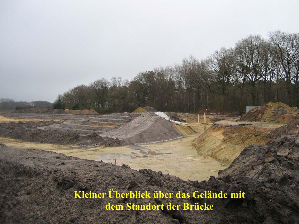 Kleiner Überblick über das Gelände mit dem Standort der Brücke