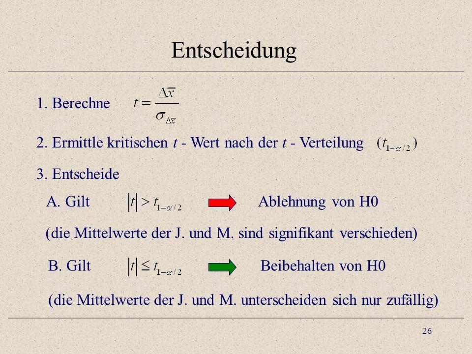 27 Praktische Berechnung 26.717.2 173106 26.7 – 17.2 = 9.5 Geschlecht MJ