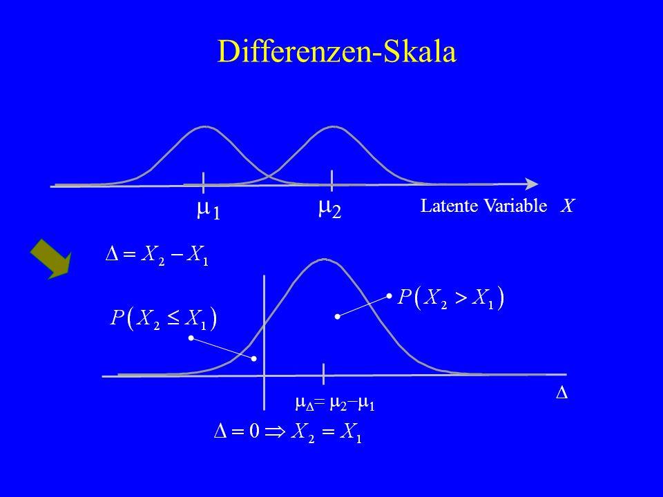 Differenzen-Skala Latente VariableX D m D = m 2 -m 1