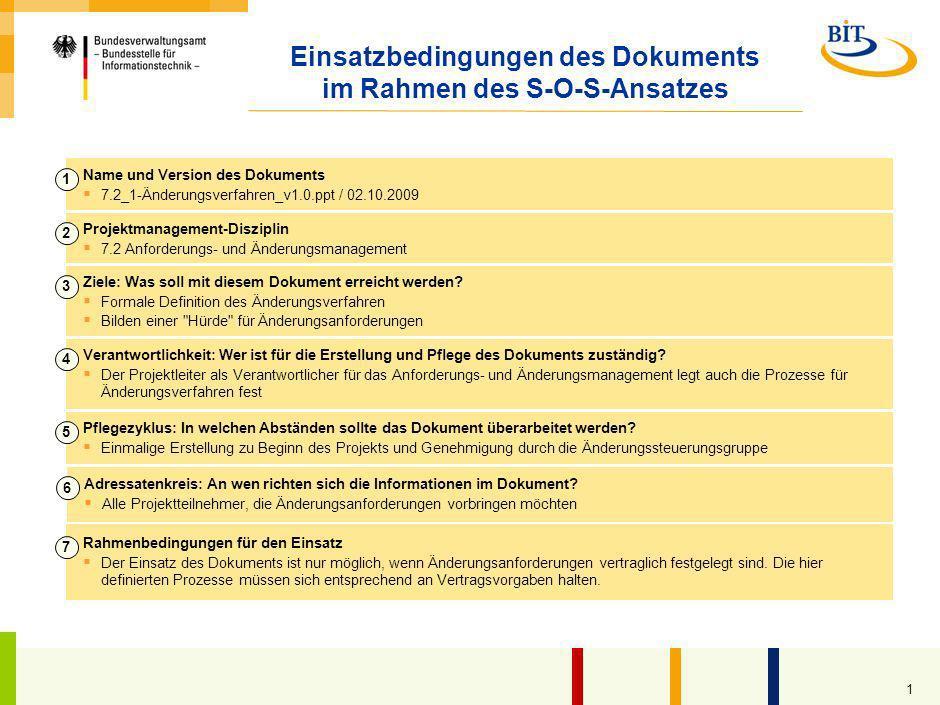Änderungsverfahren Kompetenzzentrum Großprojektmanagement (CC GroßPM) – Vorlage –