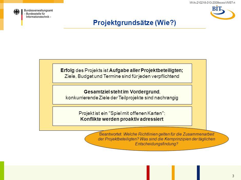 MVA-210218-013-2009xxxx-VMS7-k 2 Projektgrundsätze (Was?) Einführung eines integrierten Standard-Systems für alle Abteilungen Anpassung aller Geschäft