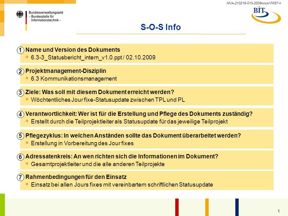 Statusbericht intern Kompetenzzentrum Großprojektmanagement (CC GroßPM) – Vorlage –