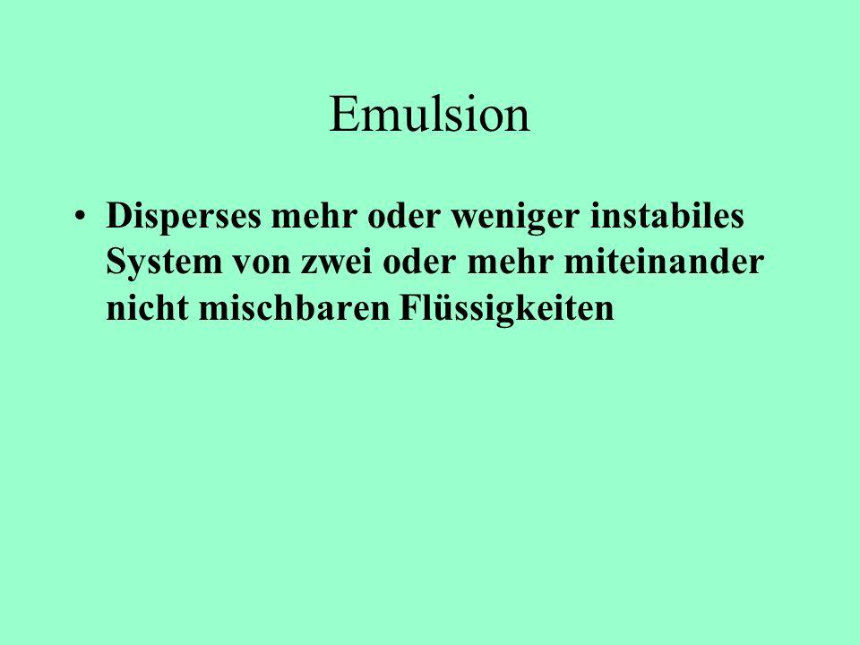 Strukturbildung in kolloidalen Systemen Selbstorganisationsphänomene Emulsionen