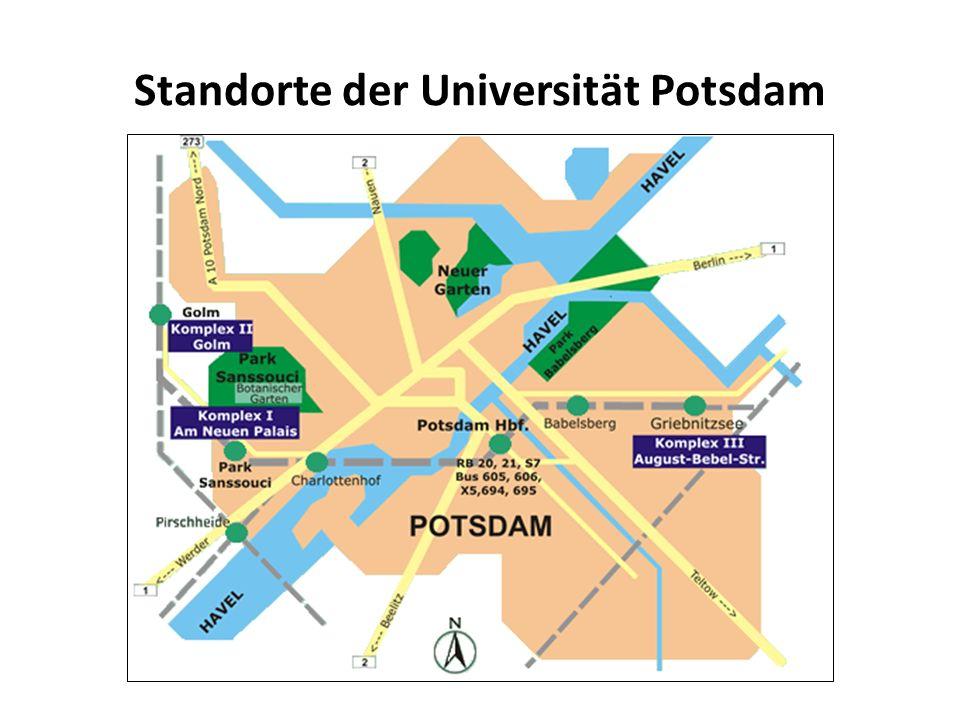 Standorte der Universität Potsdam Lagepläne - Übersicht