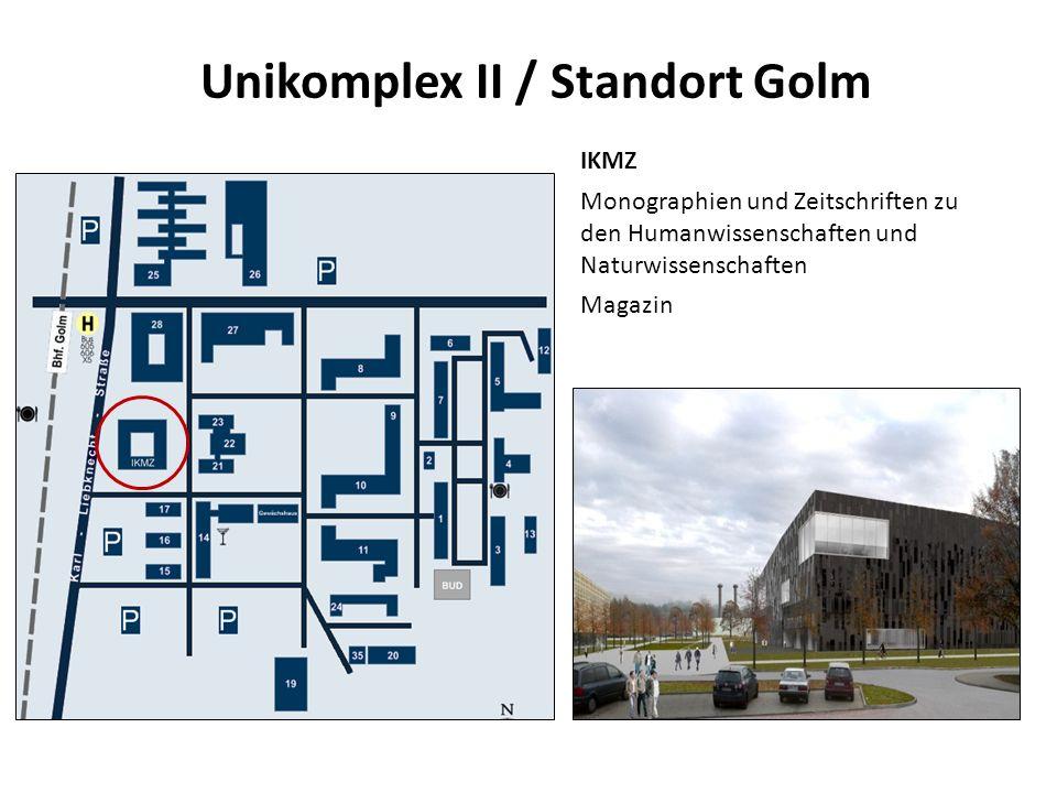 Unikomplex II / Standort Golm IKMZ Monographien und Zeitschriften zu den Humanwissenschaften und Naturwissenschaften Magazin