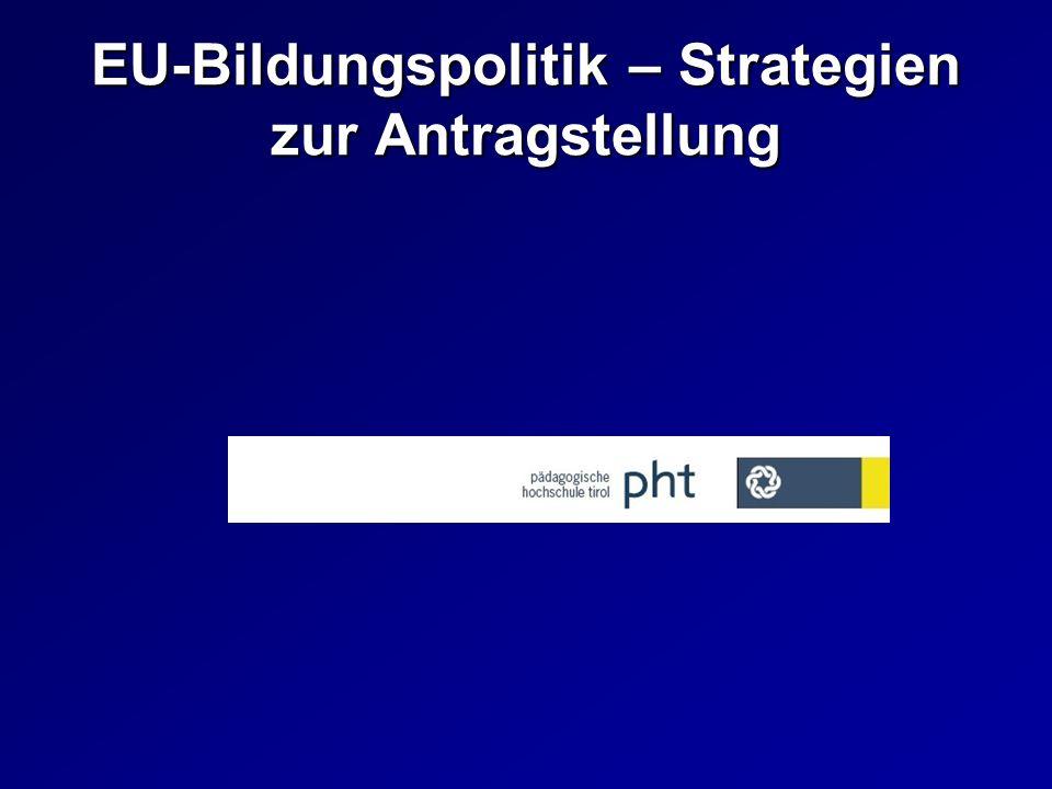 EU-Bildungspolitik – Strategien zur Antragstellung