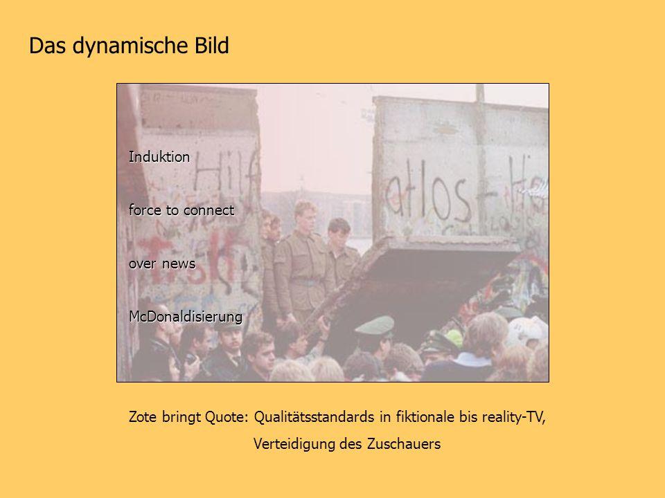 Das dynamische Bild Induktion force to connect over news McDonaldisierung Zote bringt Quote: Qualitätsstandards in fiktionale bis reality-TV, Verteidi