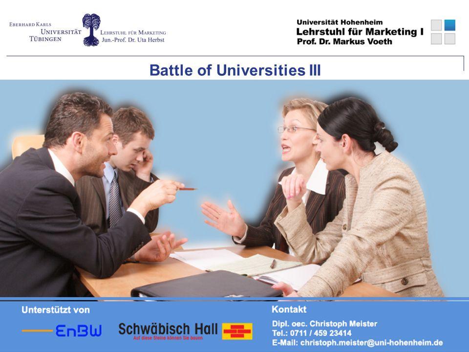 Mit freundlicher Unterstützung von Ansprechpartner: Battle of Universities III
