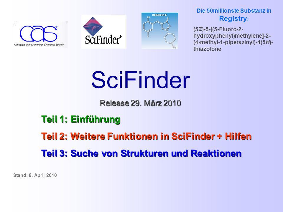 SciFinder Release 29.