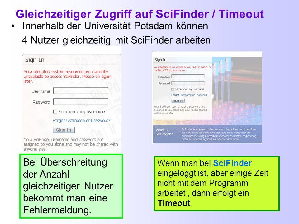 Benutzerdaten mit MyCas.org verwalten https://my.cas.orghttps://my.cas.org Mit dem Benutzernamen und dem Passwort für SciFinder kann man seine Benutze