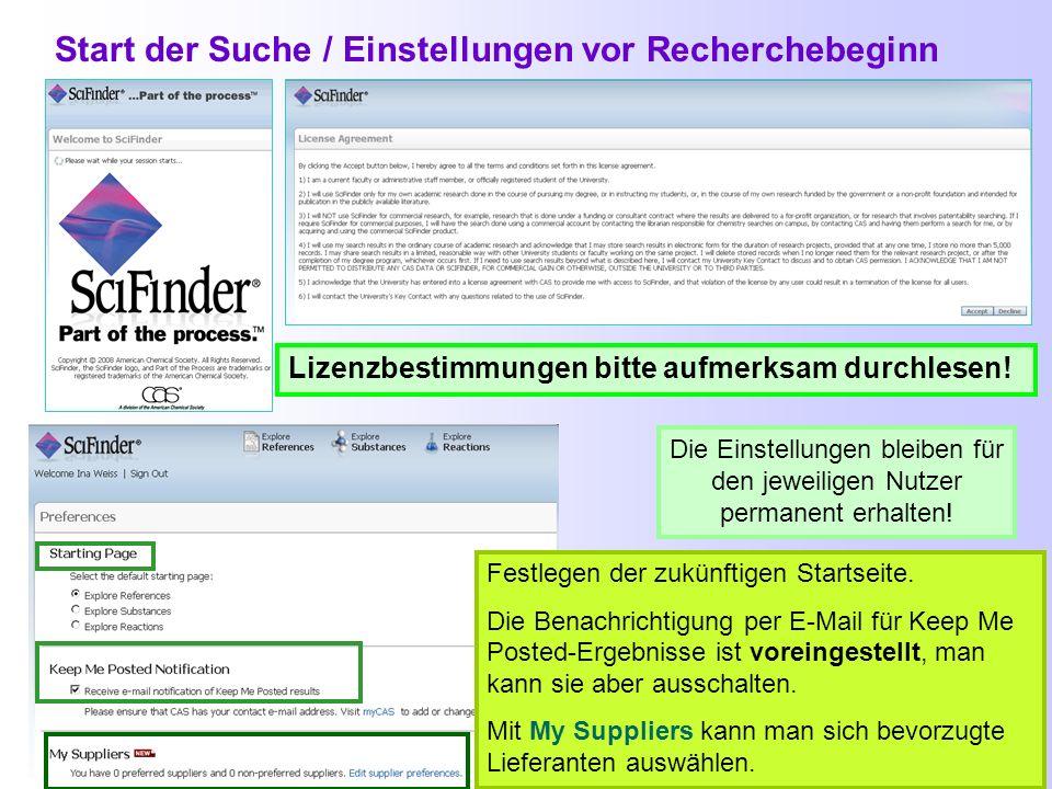 Gleichzeitiger Zugriff auf SciFinder / Timeout Innerhalb der Universität Potsdam können 4 Nutzer gleichzeitig mit SciFinder arbeiten Wenn man bei SciF