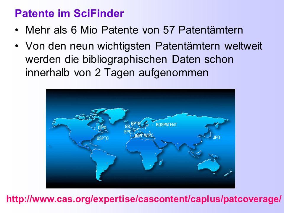 Suche nach Einrichtungen, mit Dokument Identifier, nach Zeitschriftenartikeln oder Patenten AN-Nummer (Accession Number) Suche nachAngaben zu einer Pu