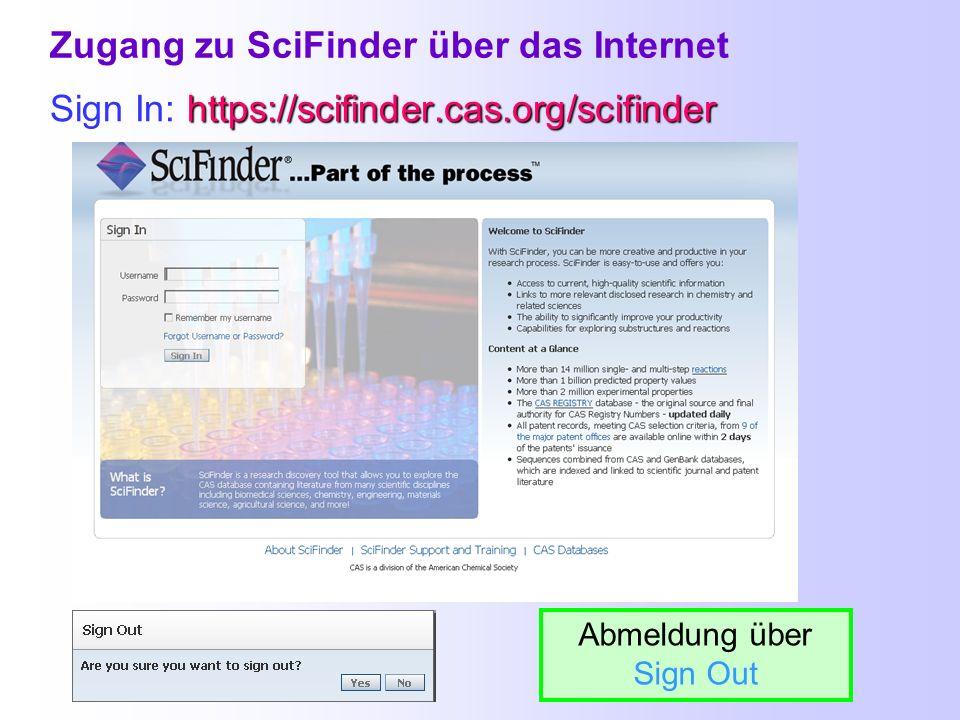 Datenbanken und Suchmöglichkeiten in Bibliographische Datenbanken Nachweise von Zeitschriftenartikeln, Patenten, Büchern, Dissertationen, etc. Chemisc