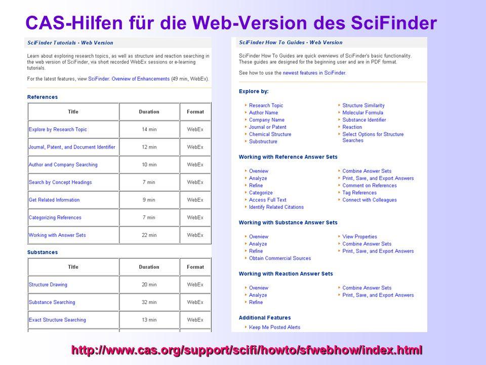 Material von CAS zum Release 29. März 2010 http://www.cas.org/support/scifi/index.html