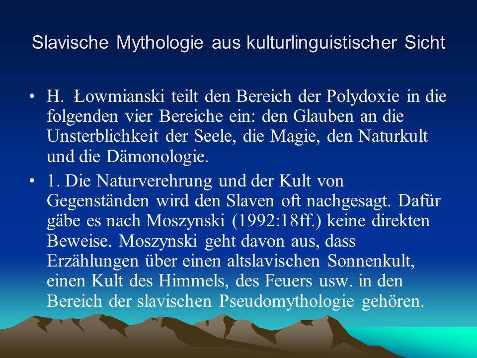 Slavische Mythologie aus kulturlinguistischer Sicht H.