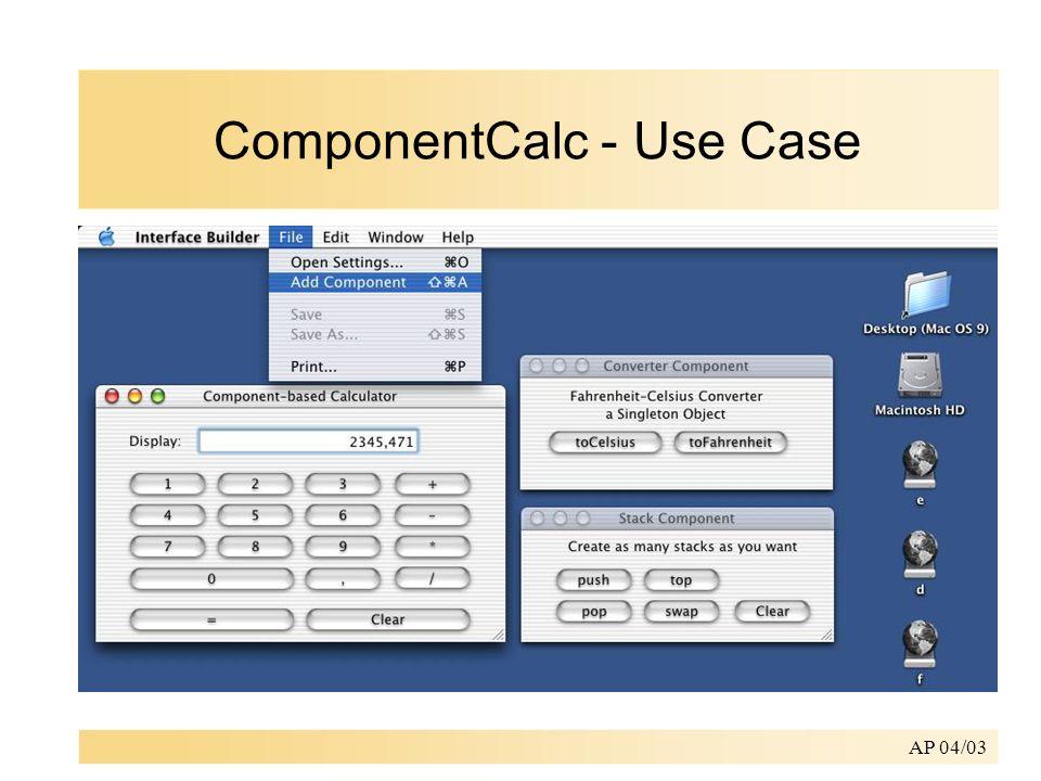 AP 04/03 ComponentCalc - Use Case