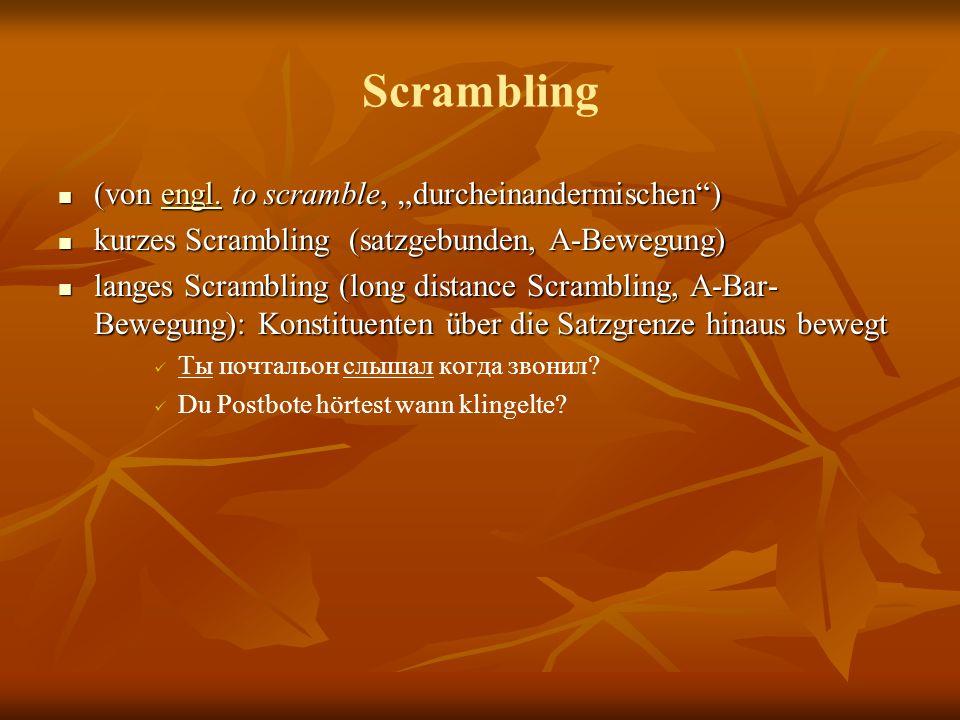 Scrambling (von engl.to scramble, durcheinandermischen) (von engl.