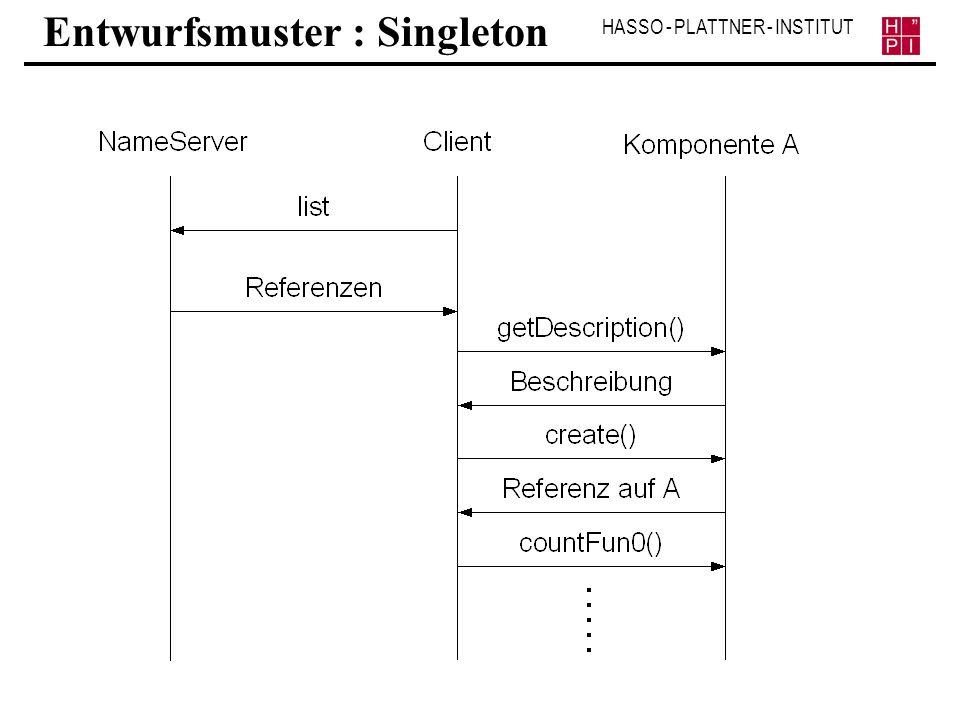 HASSO - PLATTNER - INSTITUT Entwurfsmuster : Singleton