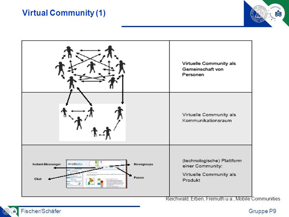 Fischer/SchäferGruppe P9 Virtual Community (1) Reichwald, Erben, Fremuth u.a., Mobile Communities