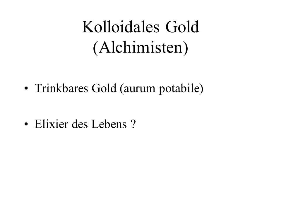 Zur Geschichte der Kolloidchemie 1857 Faraday: Methode der Lichtstreuung 1871 Rayleigh: Theorie der Lichtstreuung 1861 Graham: Diffusionsverhalten
