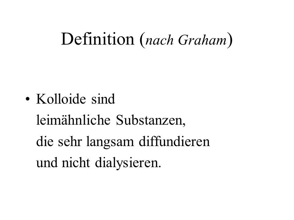 Was sind Kolloide? DEFINITION: = Leim nach Graham