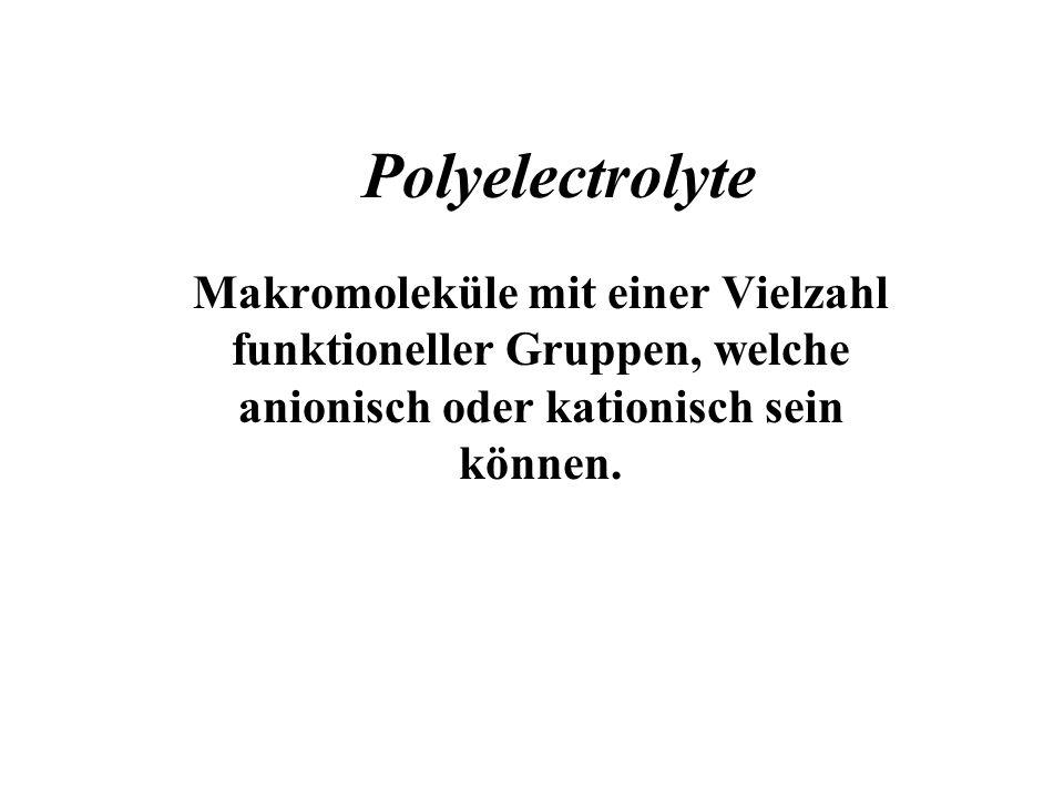 Elektrosterisch stabilisierte Systeme Adsorption von Polyelektrolyten