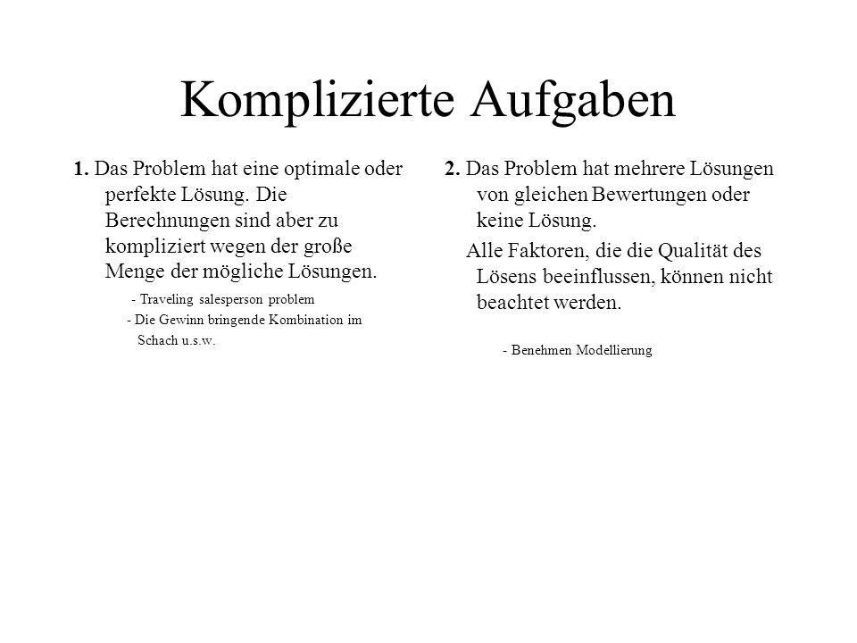 Informationsquellen 1.Z.Michalewicz, D.B. Fogel. How to solve it: Modern Heuristics.