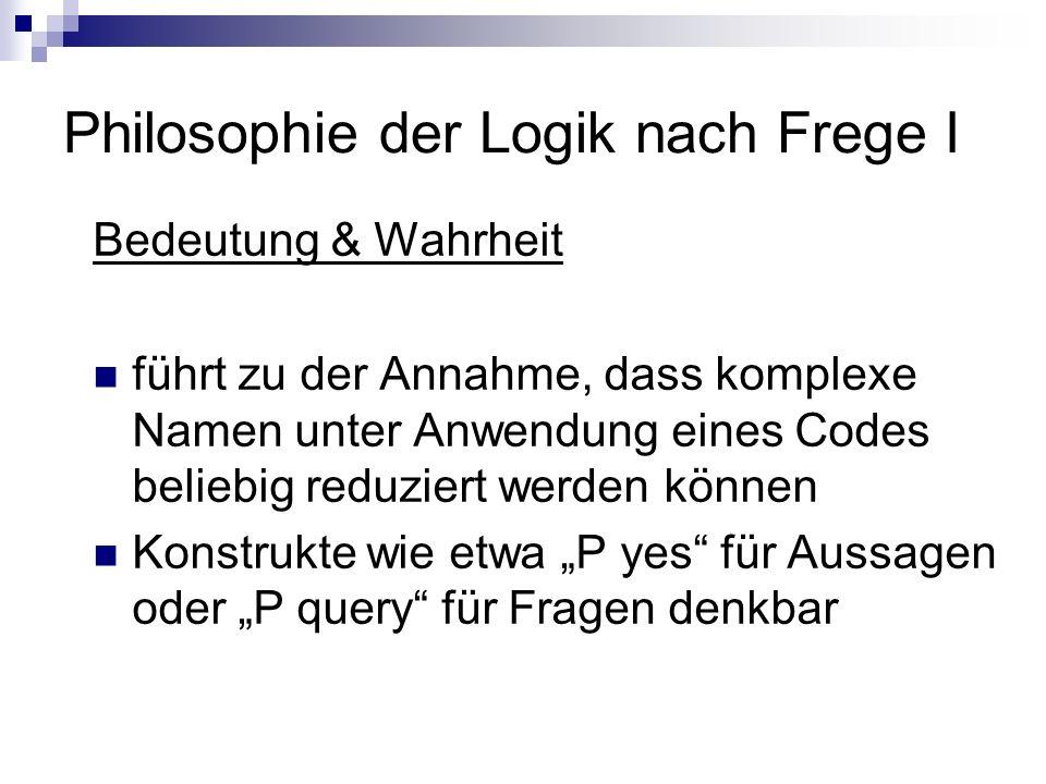 Philosophie der Logik nach Frege I Intensionen & Extensionen Problem am Beispiel: Ödipus wollte den Fremden töten.