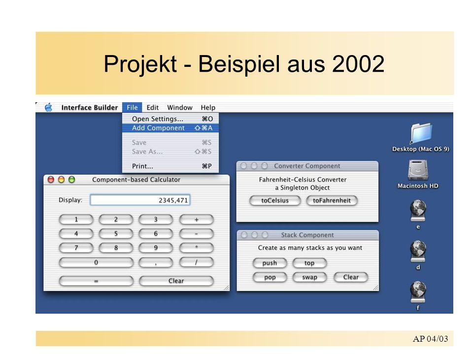 AP 04/03 Projekt - Beispiel aus 2002