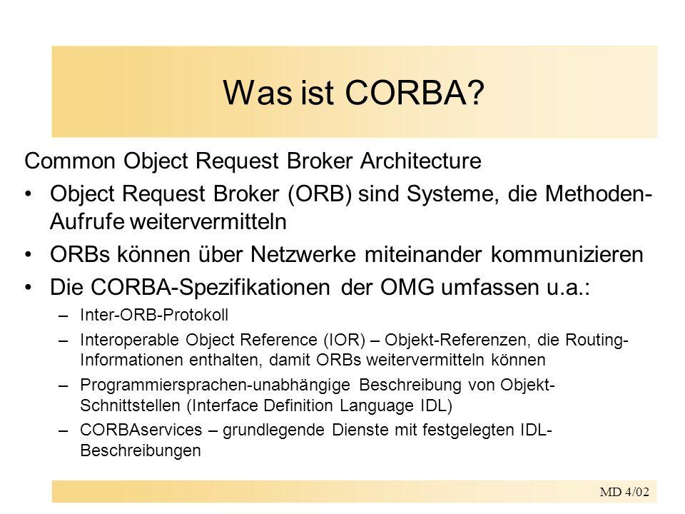 MD 4/02 Was ist CORBA.