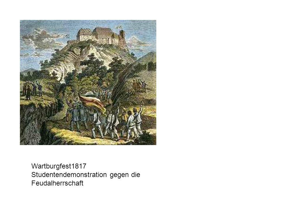 Wartburgfest1817 Studentendemonstration gegen die Feudalherrschaft