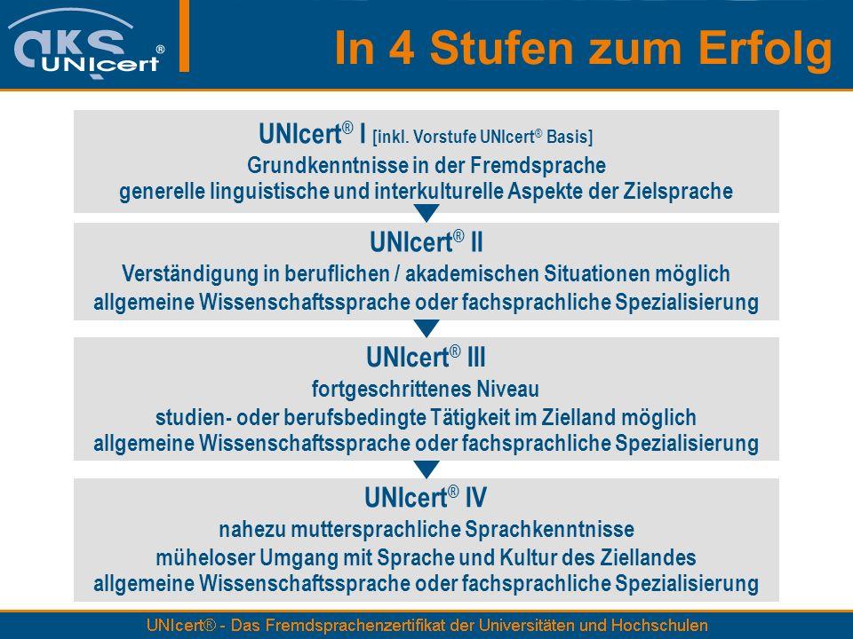 In 4 Stufen zum Erfolg UNIcert ® I [inkl.