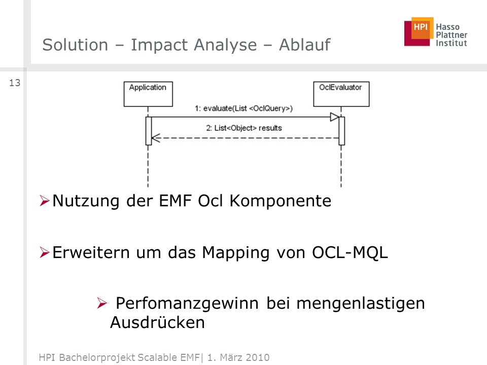Solution – Impact Analyse – Ablauf HPI Bachelorprojekt Scalable EMF| 1.