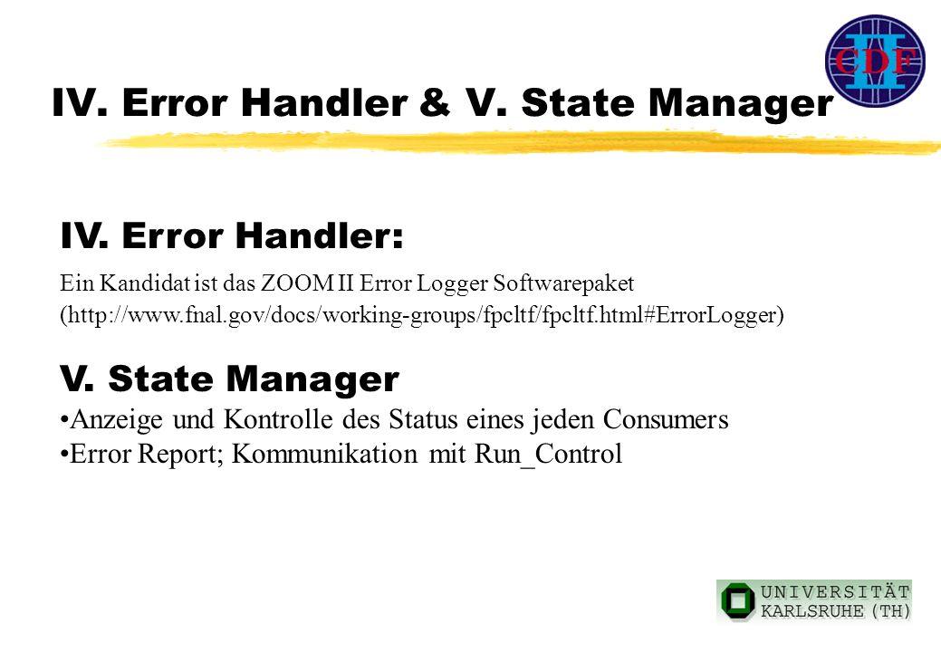 IV. Error Handler & V. State Manager IV.