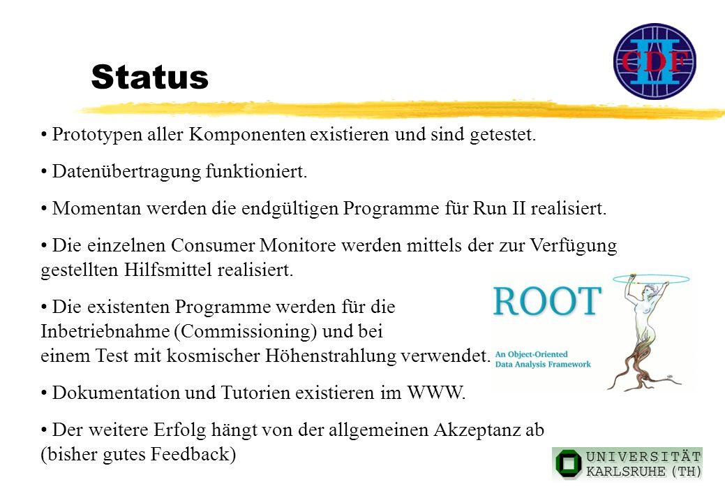 Status Prototypen aller Komponenten existieren und sind getestet.