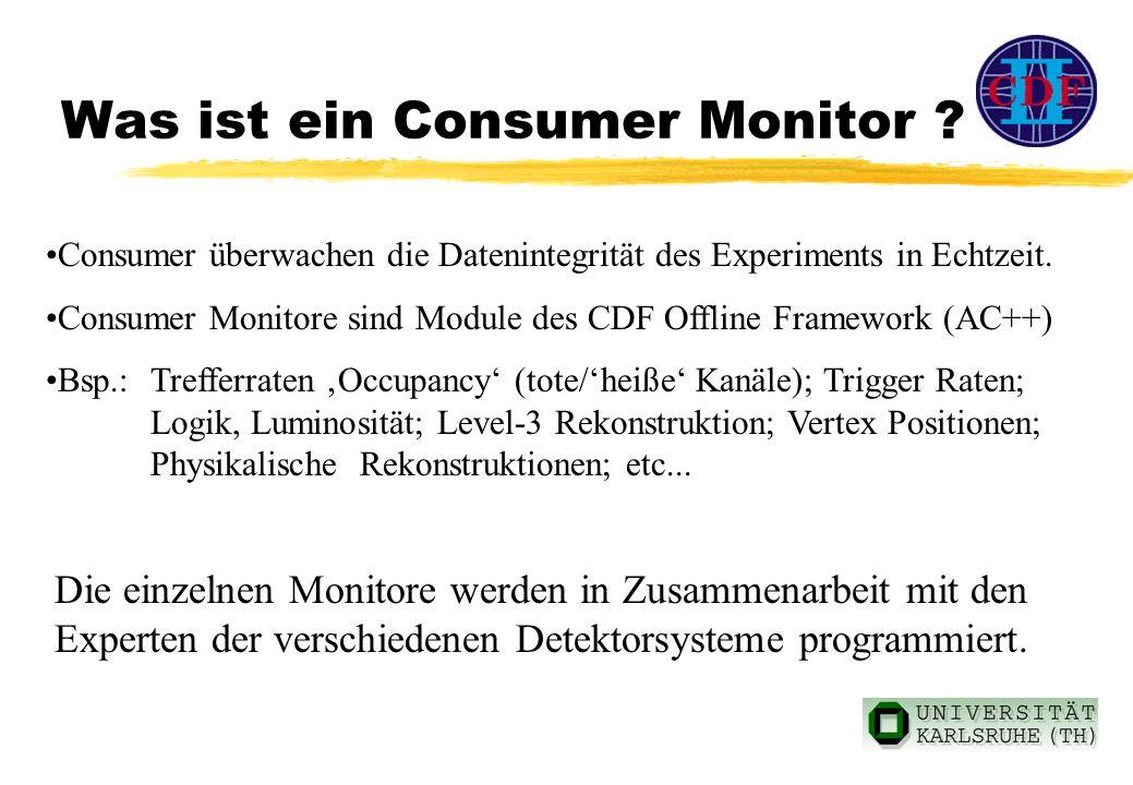 Was ist ein Consumer Monitor . Consumer überwachen die Datenintegrität des Experiments in Echtzeit.