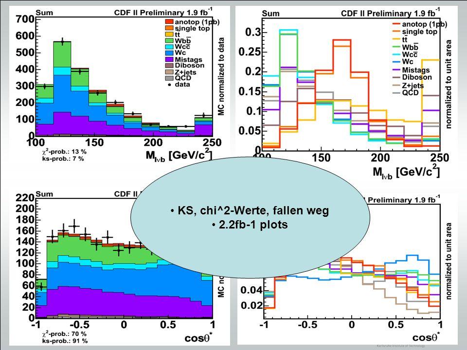 19 Suche nach anomaler Produktion von Top-Quarks im Prozess mit dem CDF II Experiment Datenanalyse Rekonstruierte Top-Masse als Diskriminante 162 pb -1 CDF II Daten Institut für Experimentelle Kernphysik Universität Karlsruhe (TH)