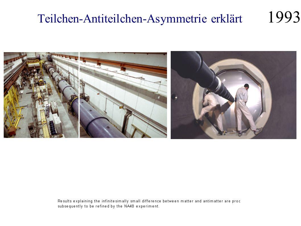 Teilchen-Antiteilchen-Asymmetrie erklärt 1993