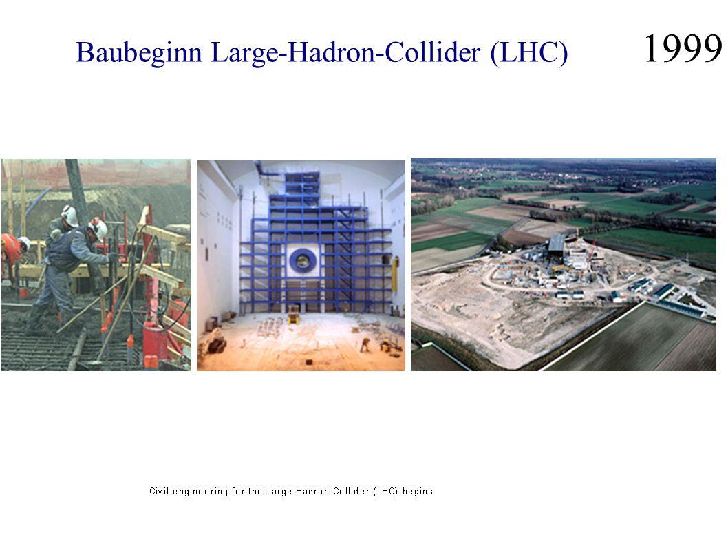 Baubeginn Large-Hadron-Collider (LHC) 1999