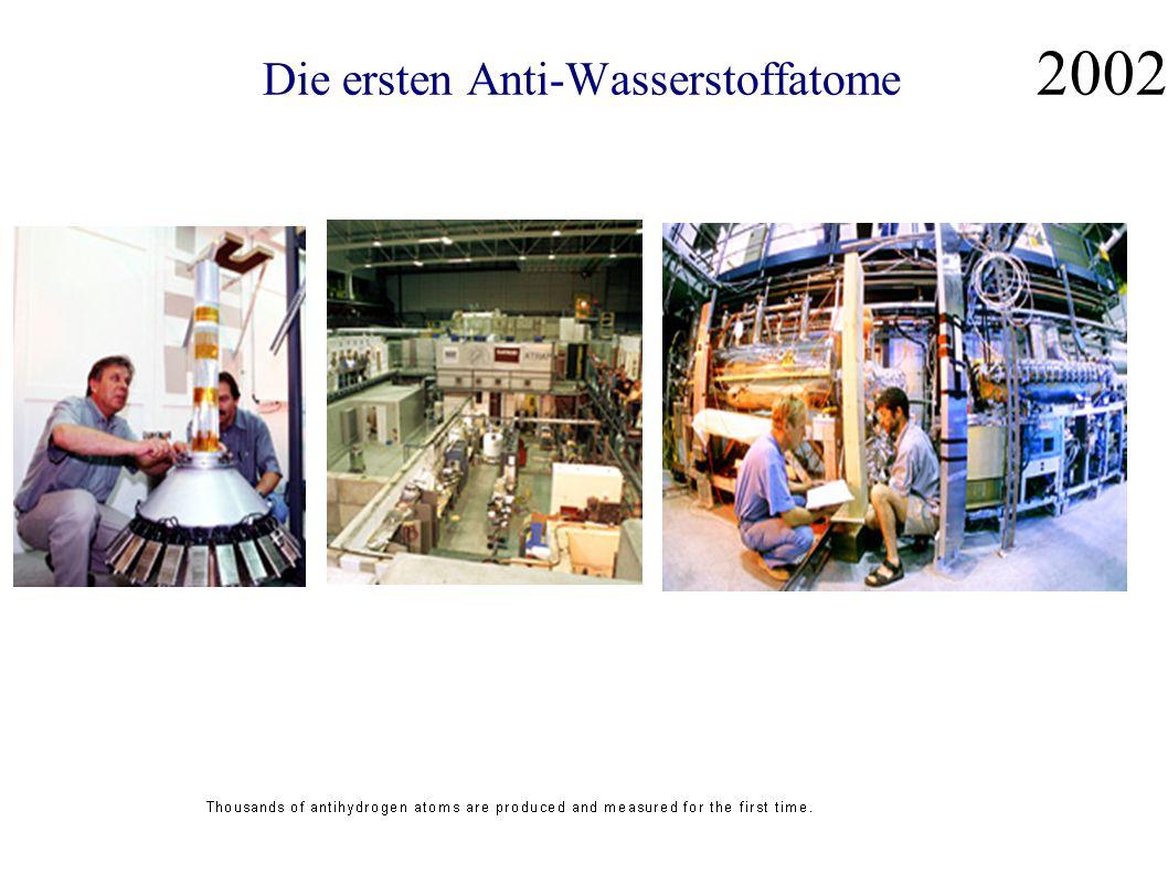 Die ersten Anti-Wasserstoffatome 2002